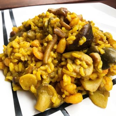 Receta rapida con arroz y gambas