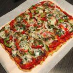 masa de pizza de garbanzos
