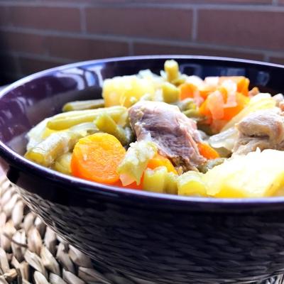 Hervido de verduras con pollo