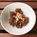 Boniato con cacao y frutos secos